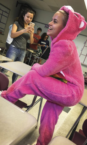 "Indian River, Michigan, USA — Interclasse, ""Pajamas Day"""